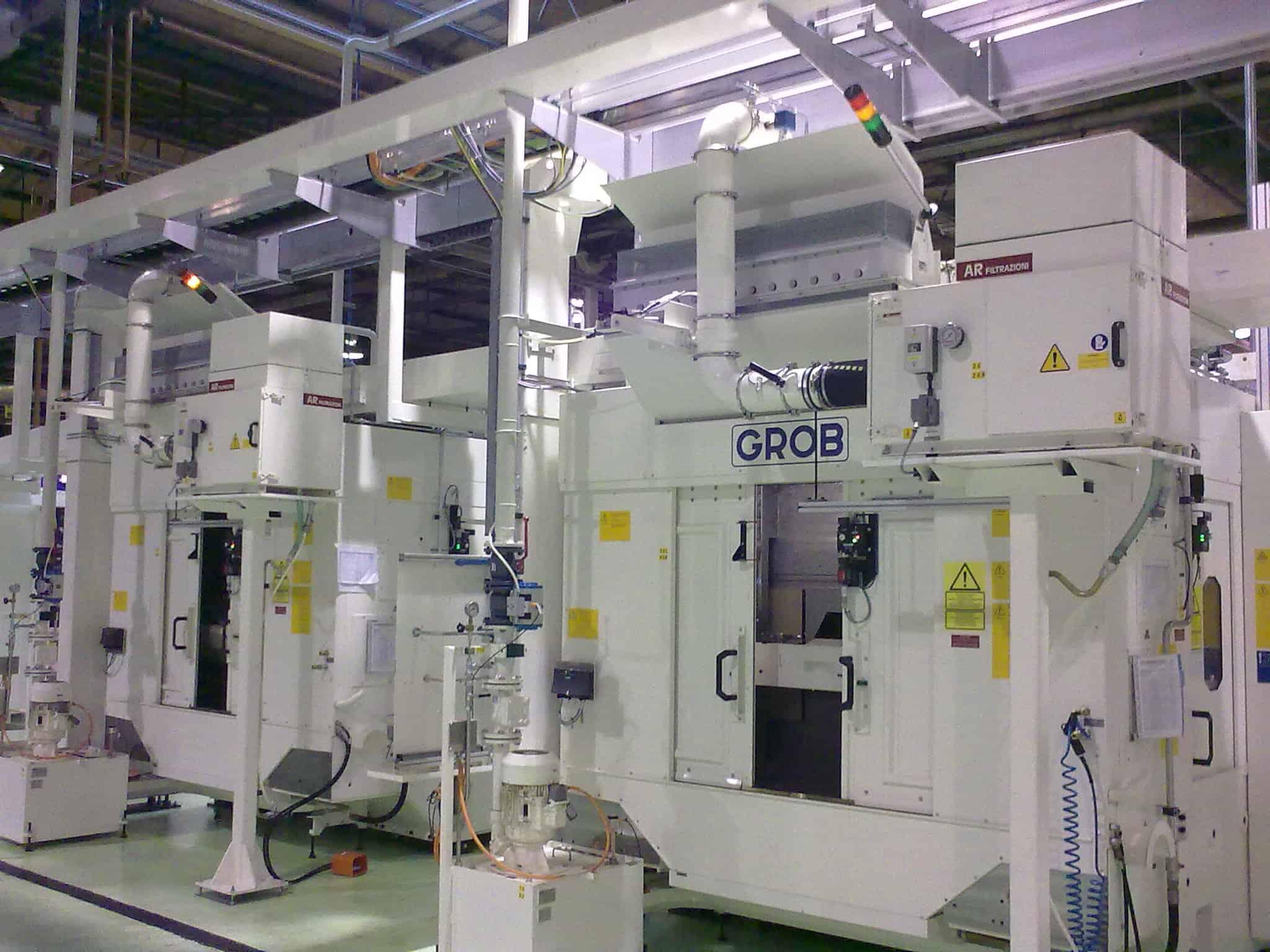 AR Filtrazioni - Centri di lavoro CNC GROB | Filtrazione industriale nebbie oleose e fumi