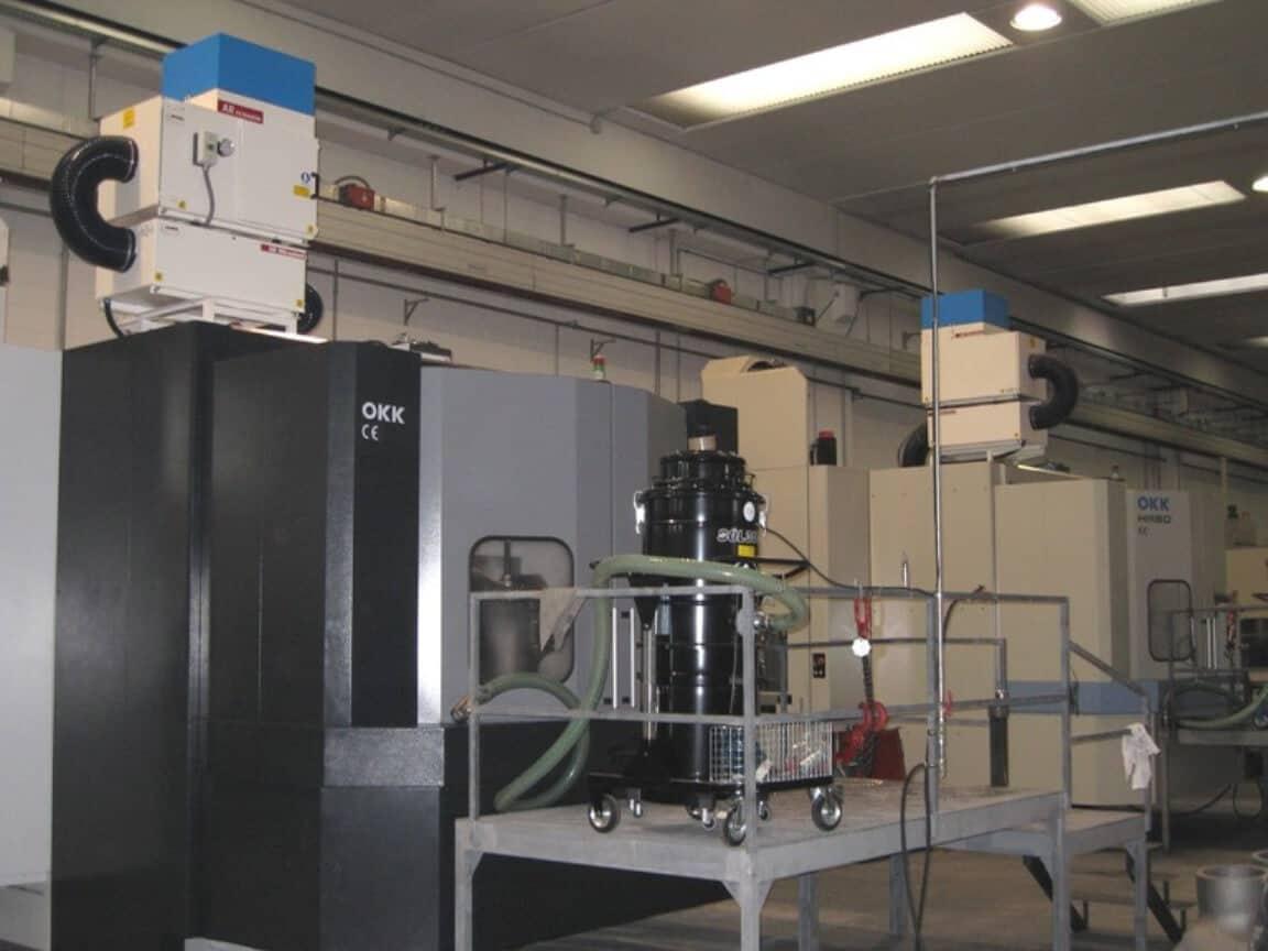AR Filtrazioni | OKK CNC | Filtrazione nebbie oleose aspirazioni fumi industriali