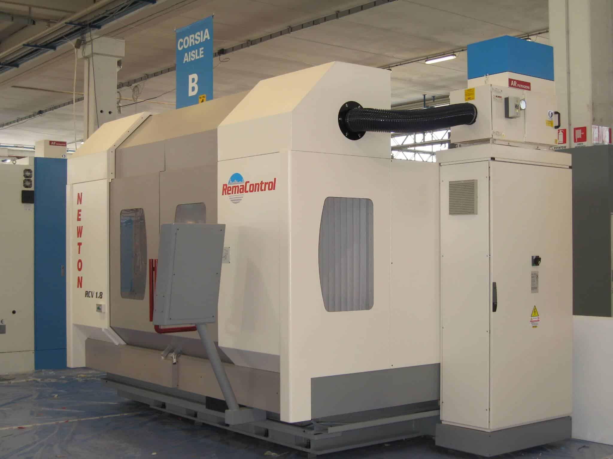 AR FILTRAZIONI | REMA CONTROL CNC | Filtrazione nebbie oleose aspirazione fumi da centri di lavoro cnc