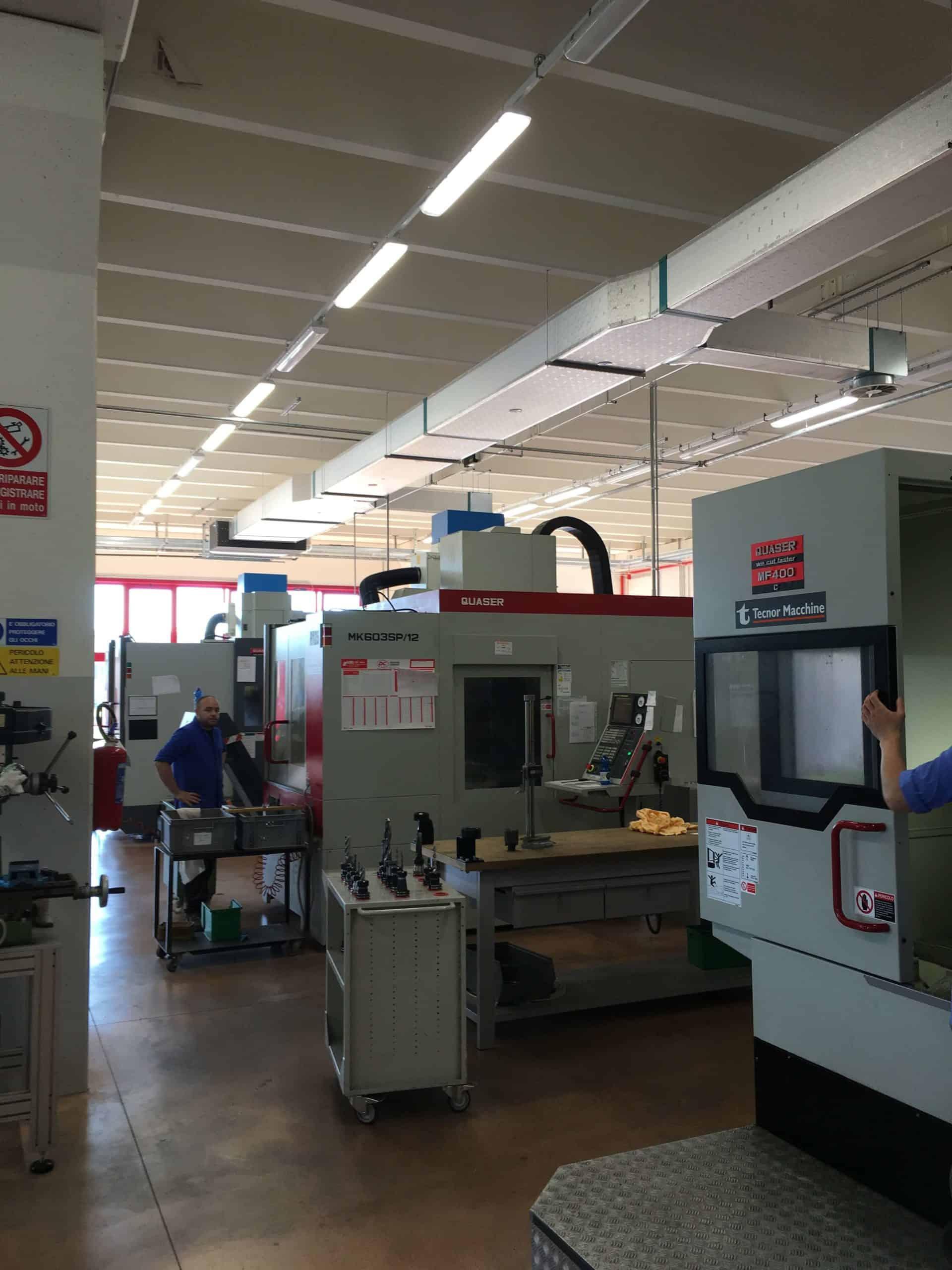 AR FILTRAZIONI | QUASER CNC | Filtrazione nebbie oleose aspirazione fumi da centri di lavoro cnc