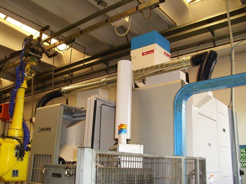 AR Filtrazioni | Depuratori nebbie oleose e fumi per torni OKUMA