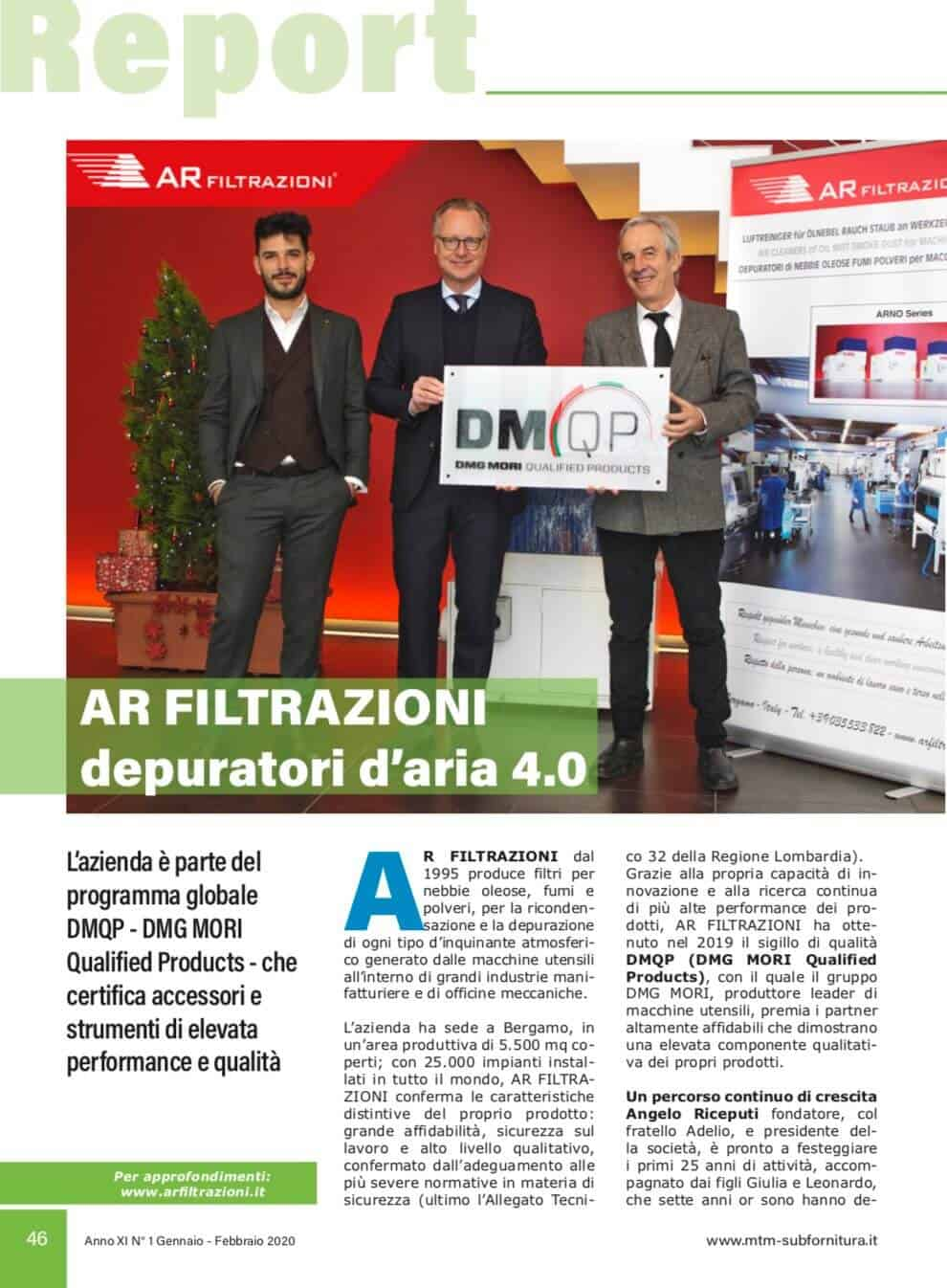 AR Filtrazioni | Partner dmqp dmg mori program certified